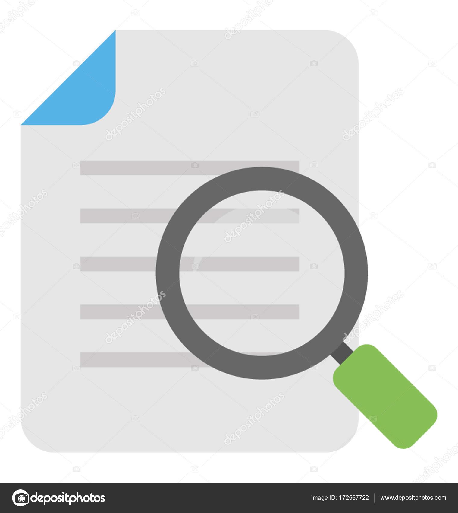 42c31da46de59 Icono de Vector de buscar documento — Archivo Imágenes Vectoriales ...