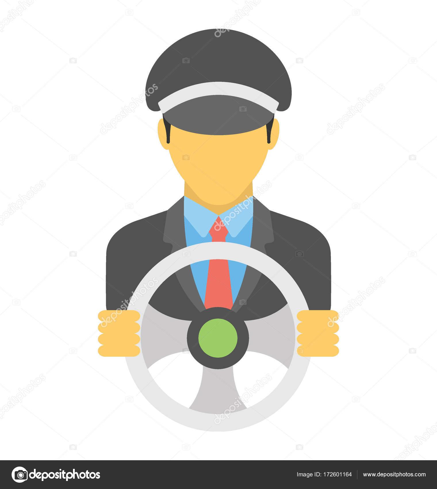 Driver Vector Icon Stock Vector C Creativestall 172601164