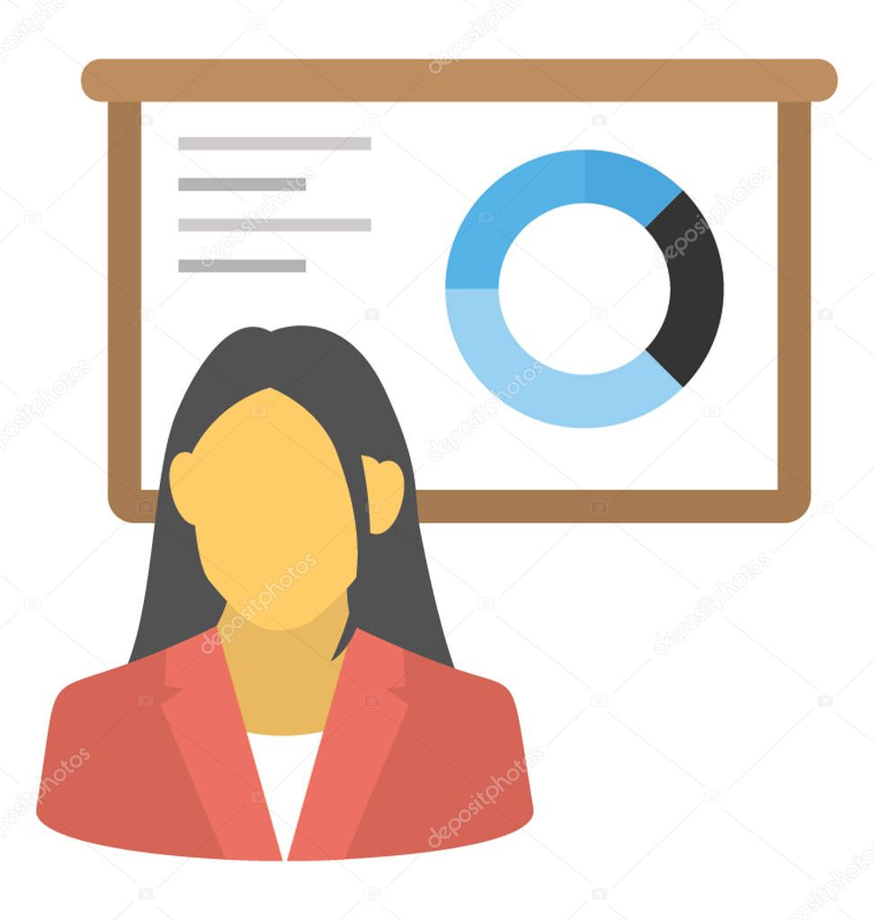 Pricing Analyst: Business Analyst Vector Icon