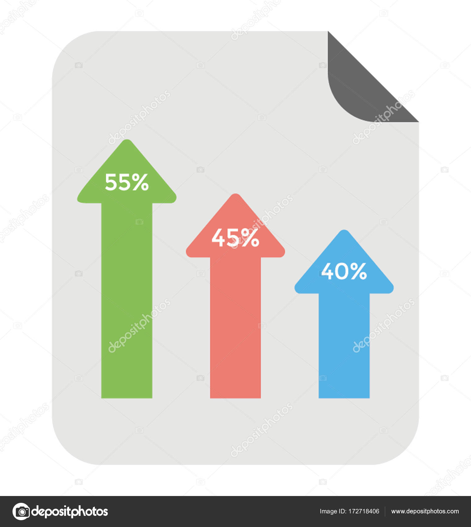 modern arrow bar chart vector icon — stock vector © creativestall