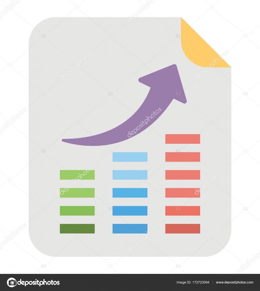 Sierra Chart Vector Icon — Stock Vector © creativestall