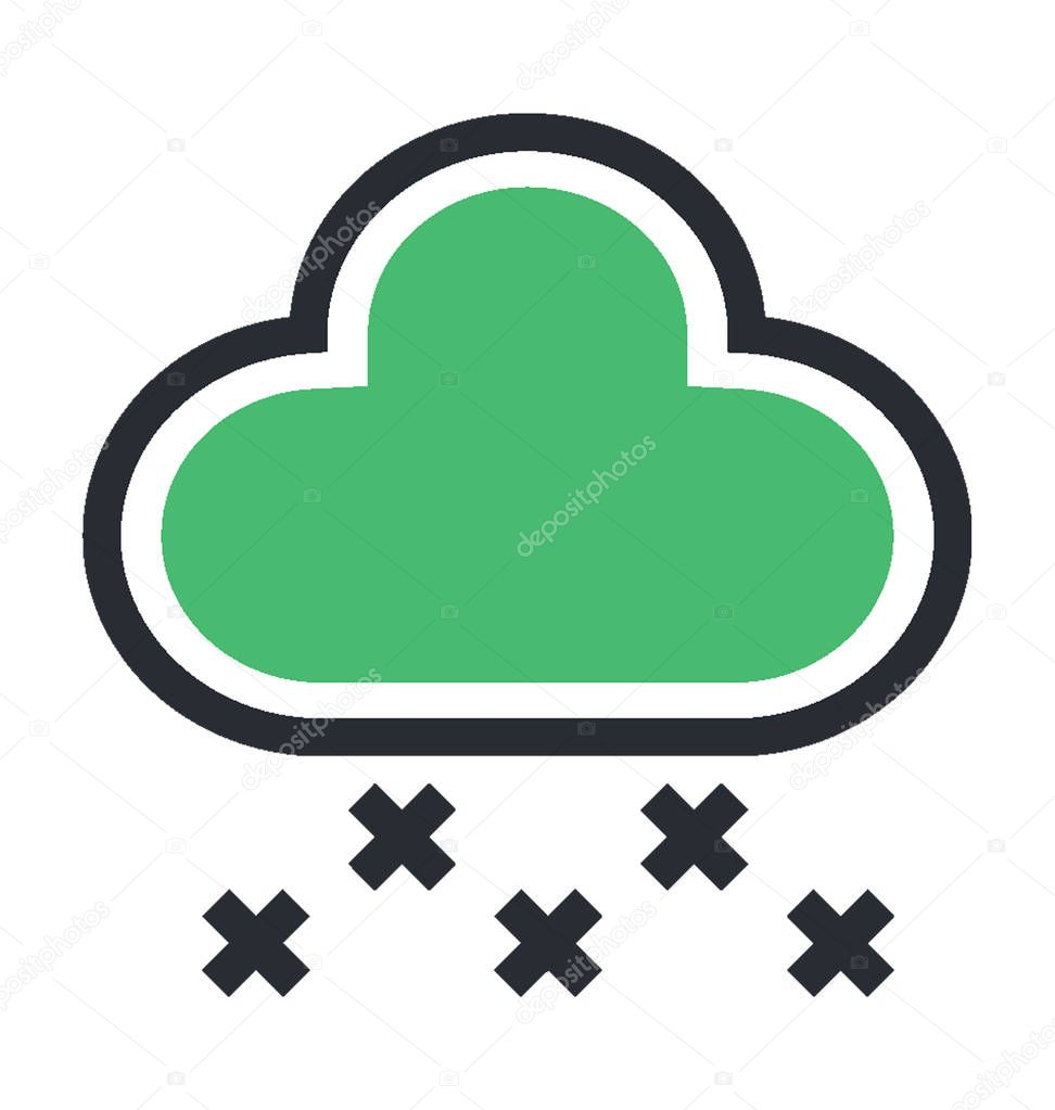 Snowfall Colored Vector Icon