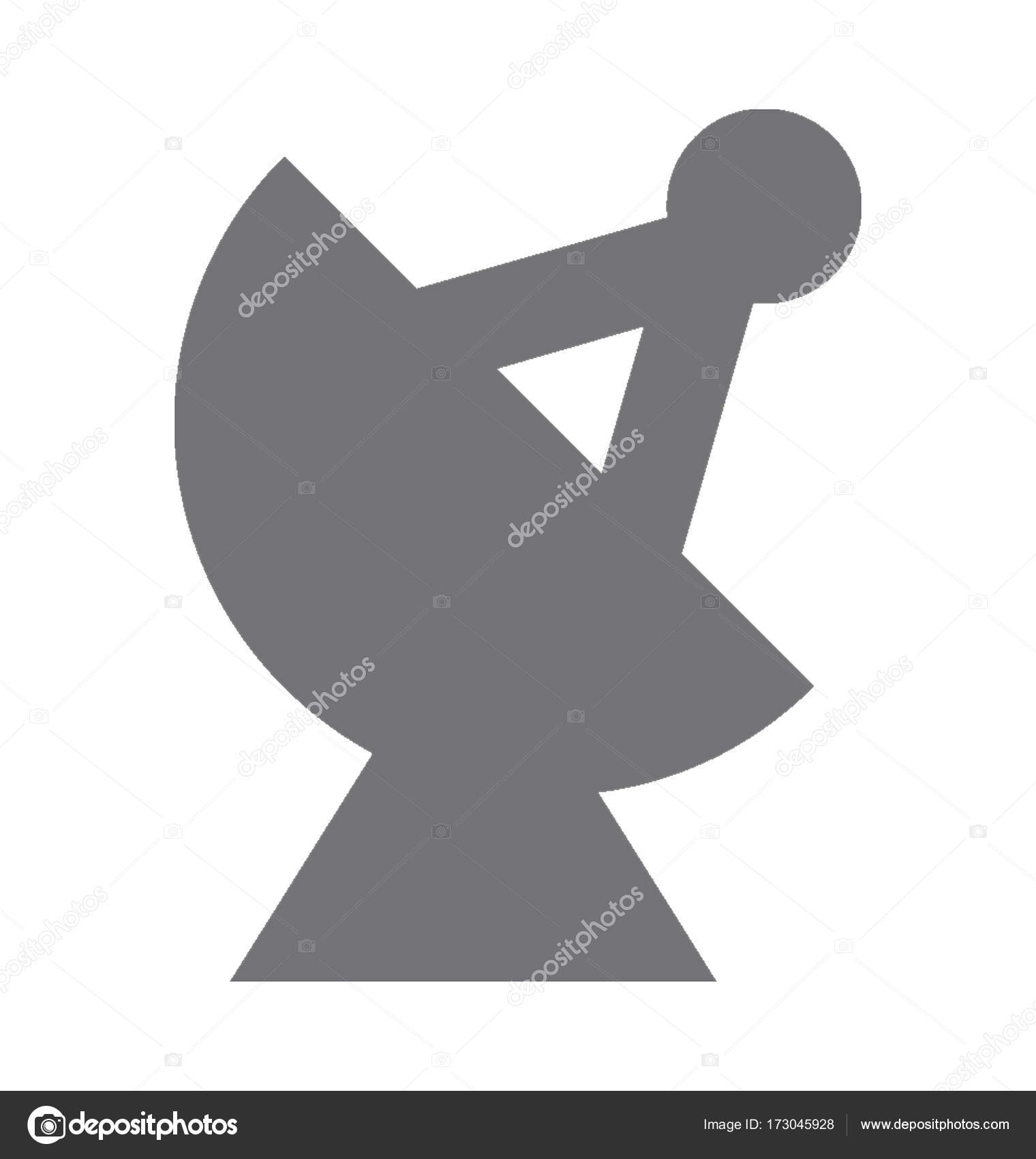 Satellite Dish Vector Icon Stock Vector Creativestall 173045928