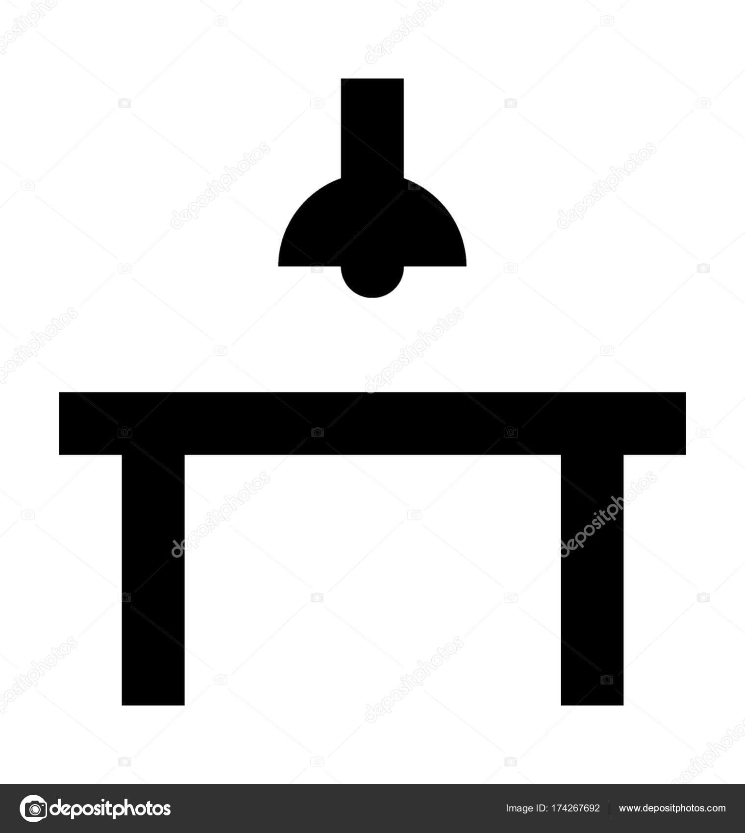 Dining Table Vector Icon — Stock Vector © creativestall ...
