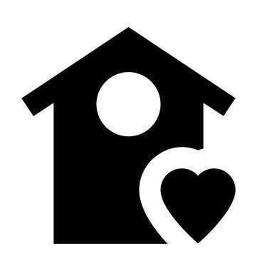 Home Love Vector Icon