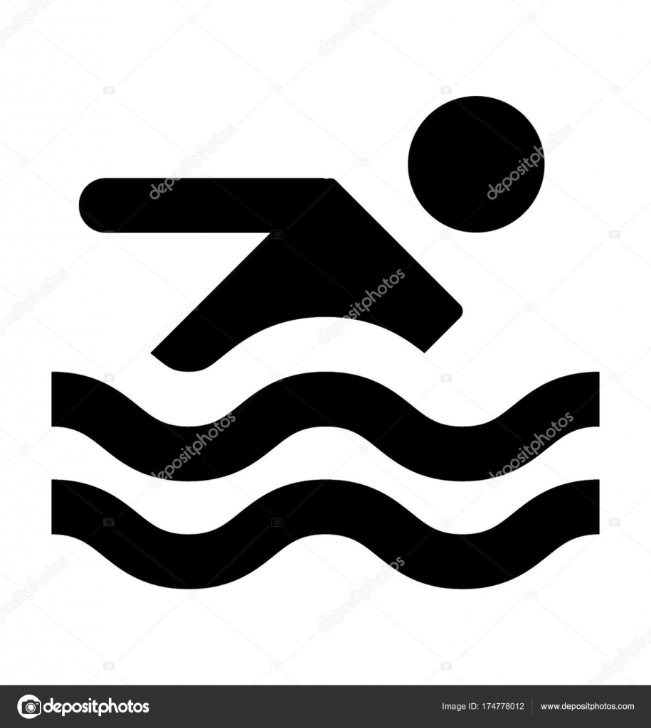 swimmer vector icon stock vector creativestall 174778012 rh depositphotos com swim vector summer vector