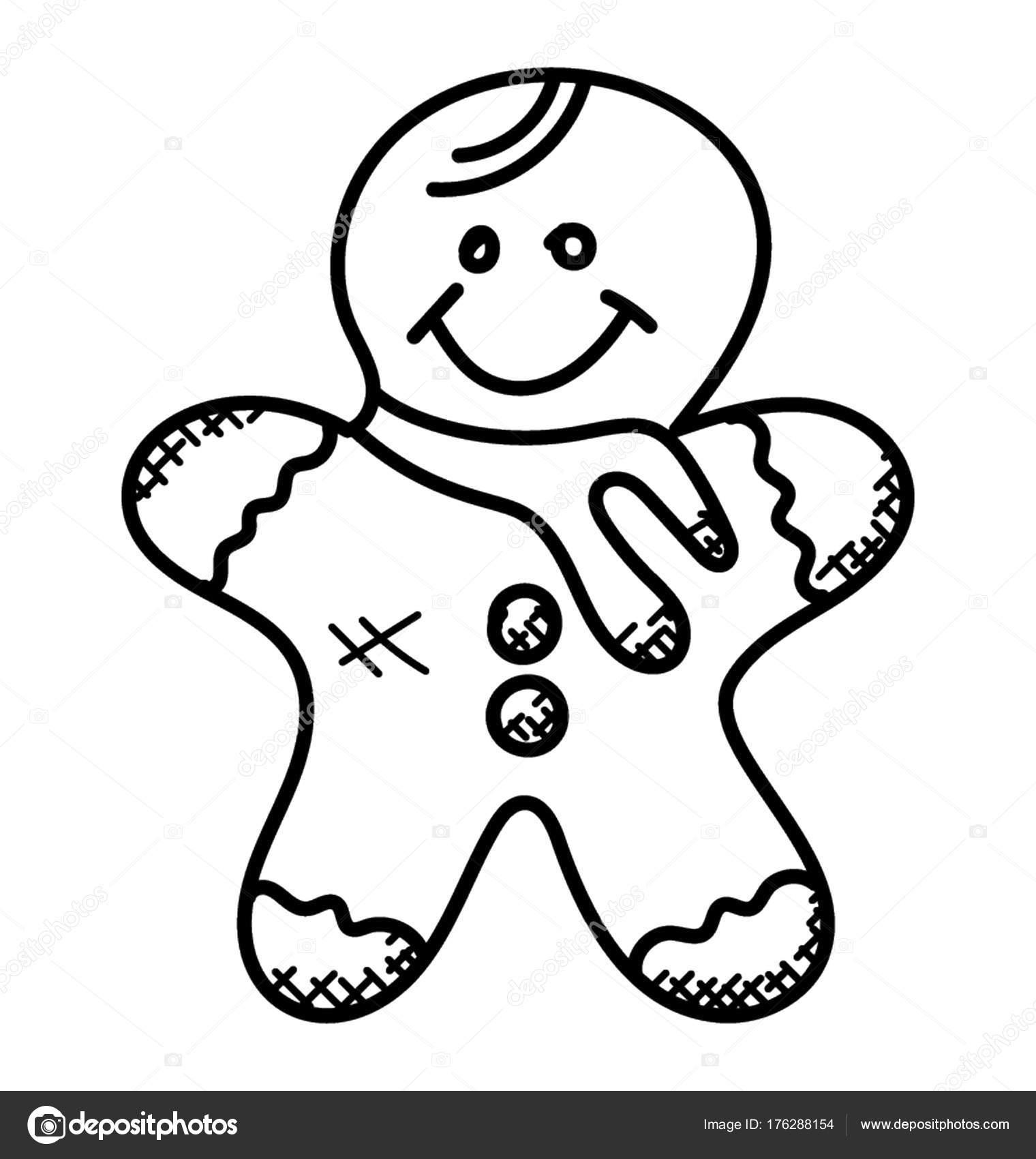 Icono Doodle Hombre Jengibre — Vector de stock © creativestall ...