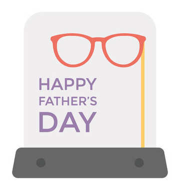 A heartfelt greeting on father day