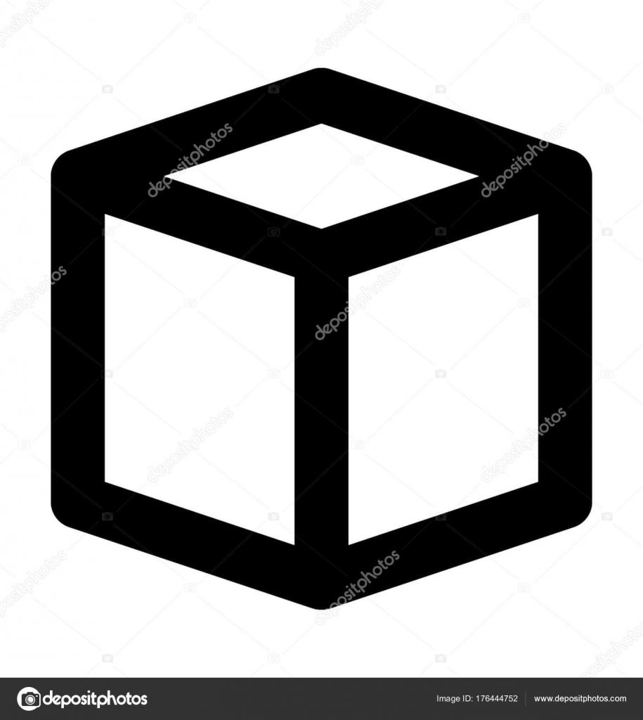 Cube Shape Vector Icon — Stock Vector © creativestall #176444752
