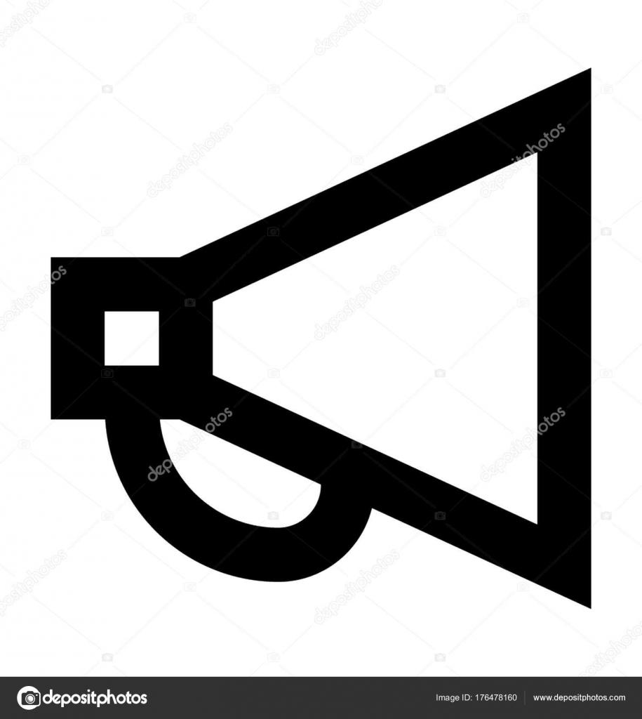 megaphone vector icon stock vector creativestall 176478160 rh depositphotos com