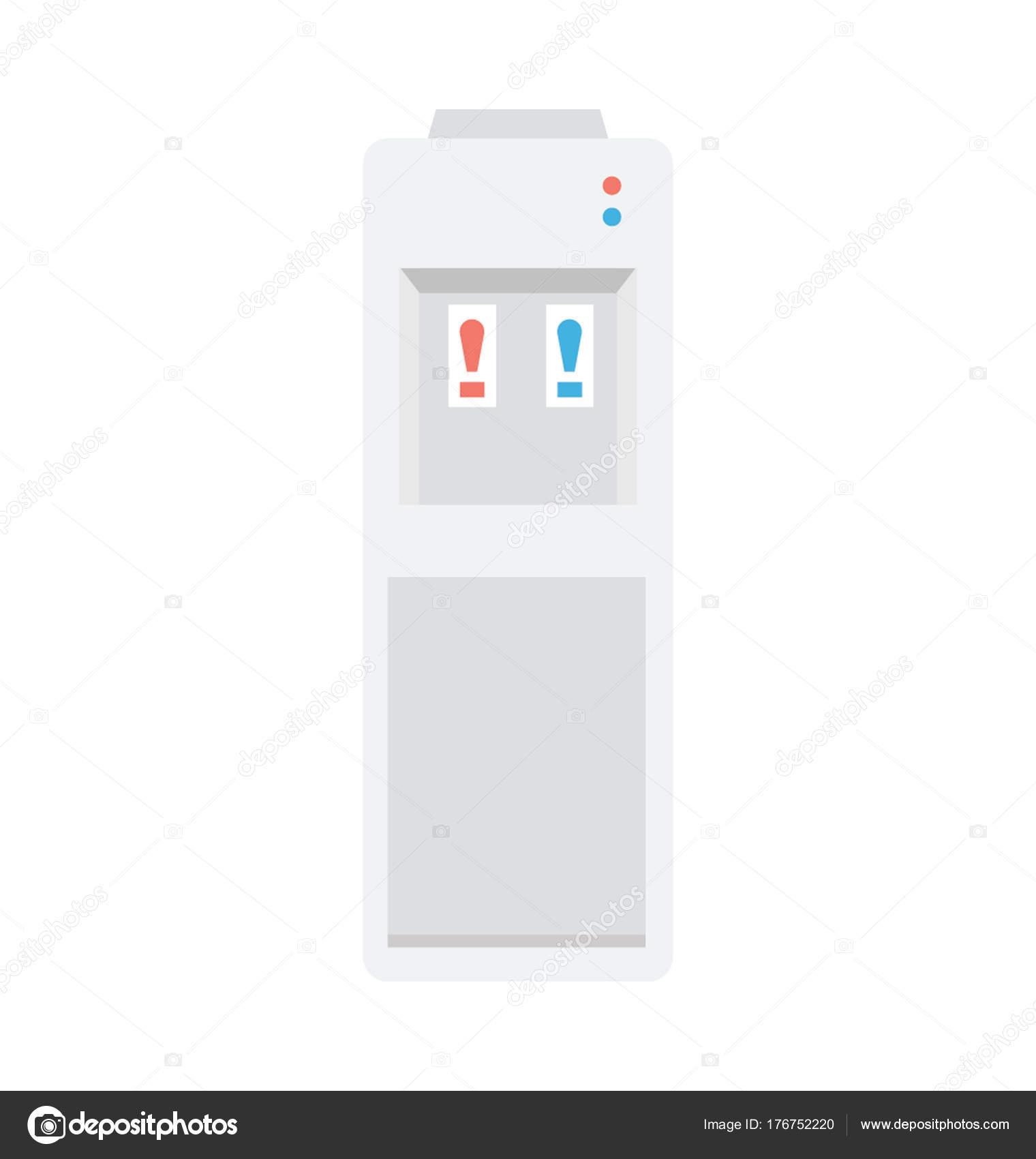 Wasser Dispenser Vektor Icon — Stockvektor © educester #176752220