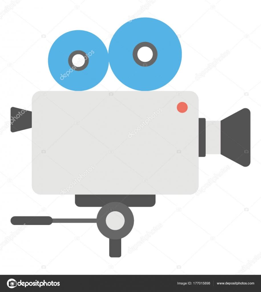 Disegno Piatto Dell Icona Una Telecamera Ripresa Vettoriali Stock