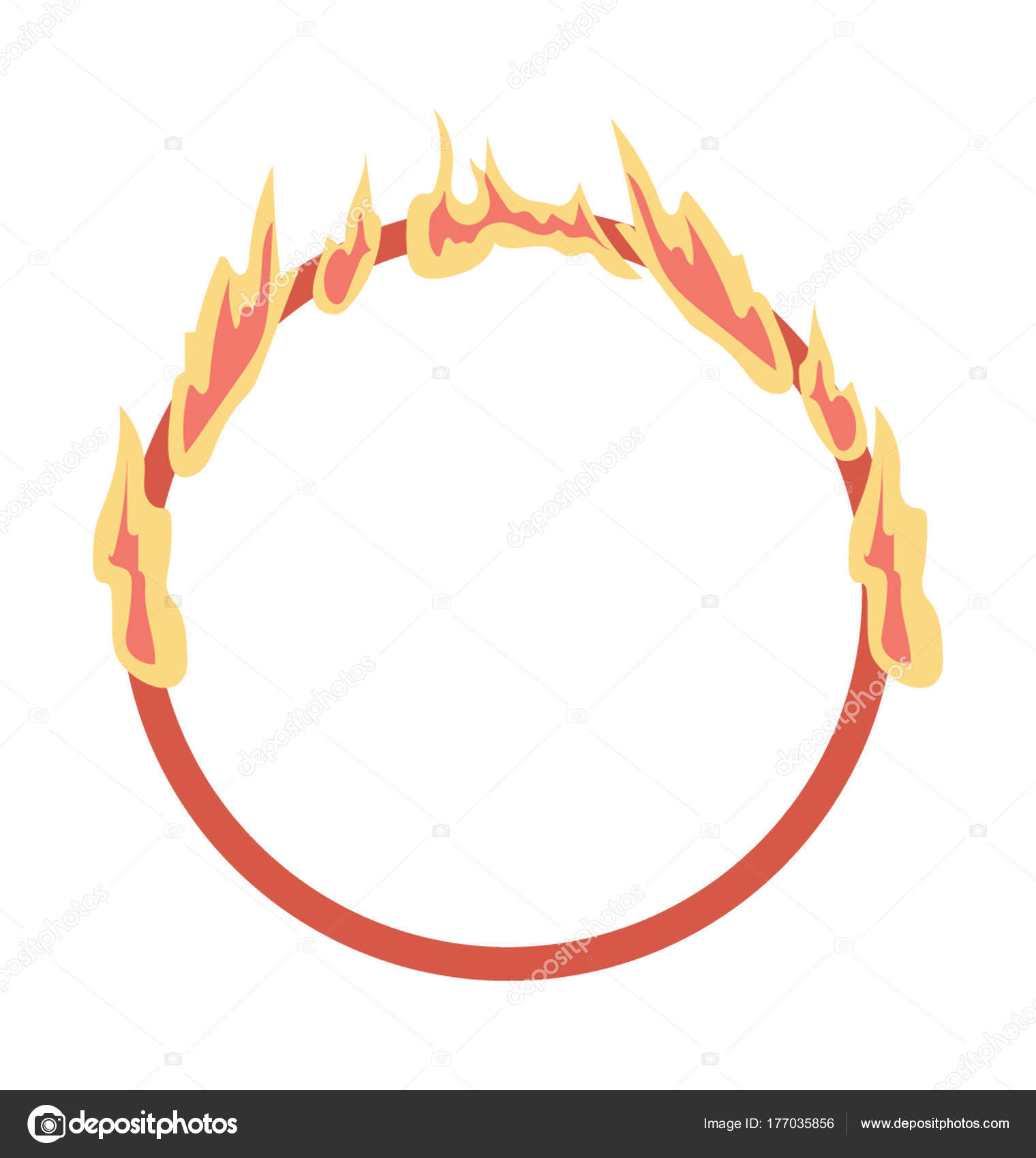 Fire Ring Vector Icon U2014 Stock Vector