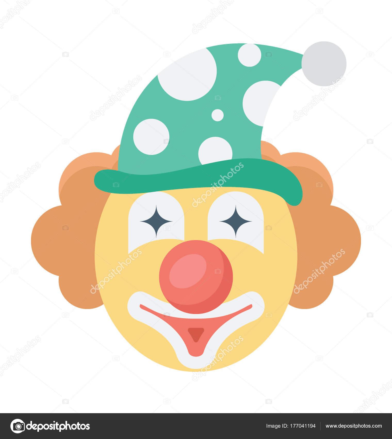 Joker Face Vector Icon Stock Vector C Creativestall 177041194