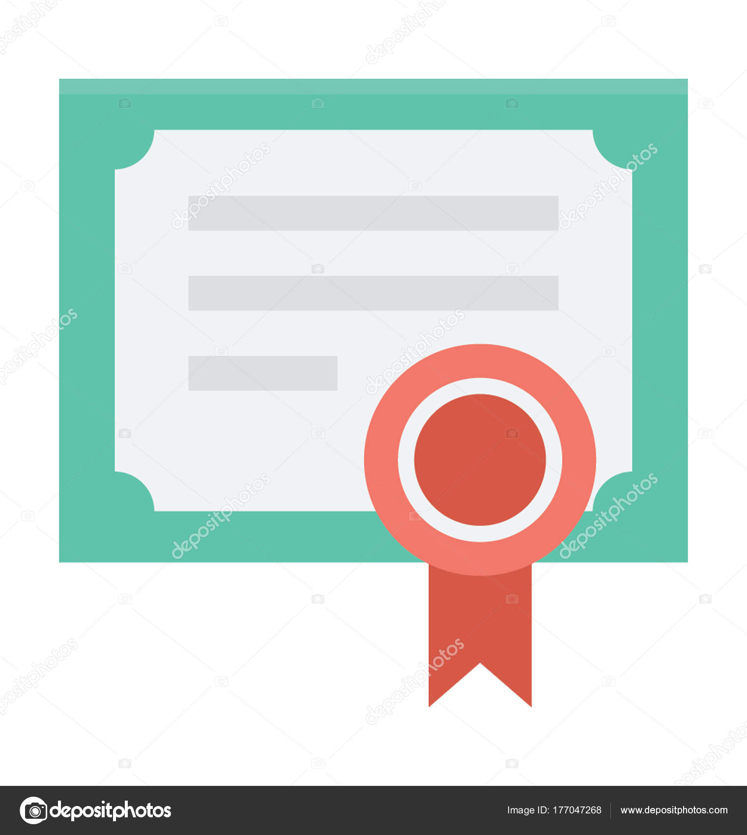 Certificate Vector Icon Stock Vector Creativestall 177047268