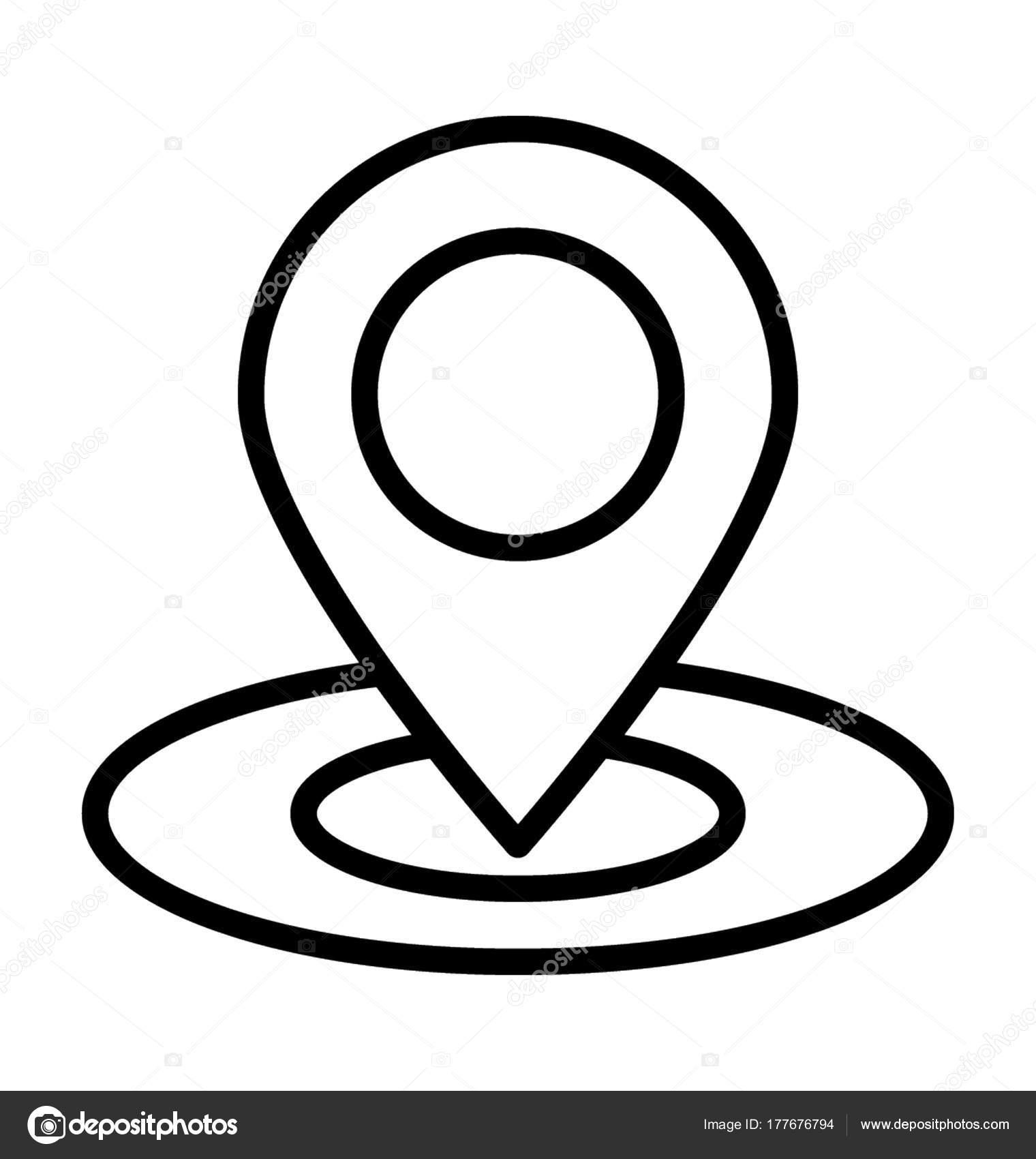 Location Pin Vector Icon — Stock Vector © creativestall