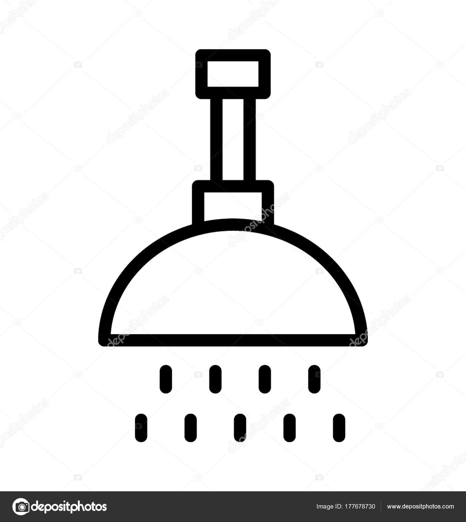 Bath Shower Vector Icon Stock Vector C Creativestall 177678730