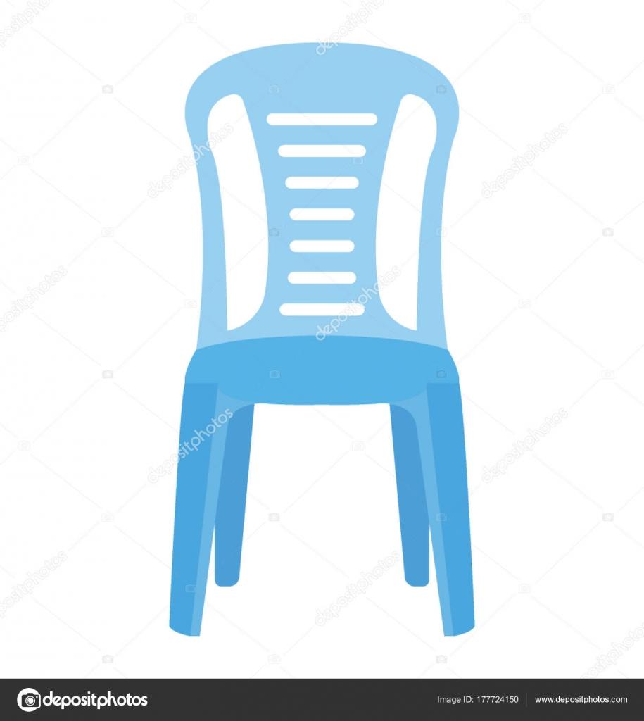 Sedie Di Plastica Usate.Una Sedia Prato Plastica Usata Seduta Vettoriali Stock