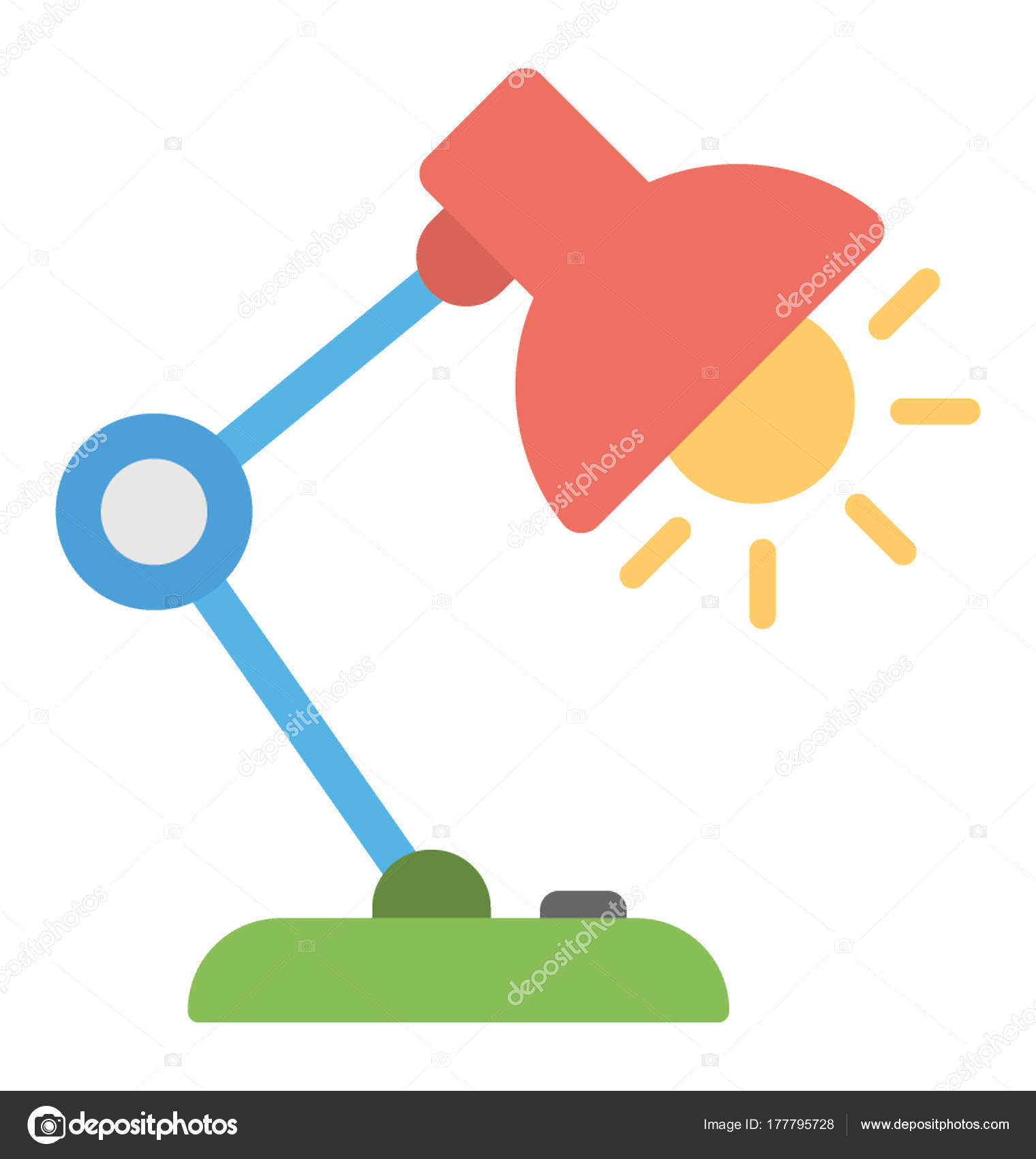 office table lamp. Office Table Lamp Icon Desk Flat Vector \u2014 Stock R