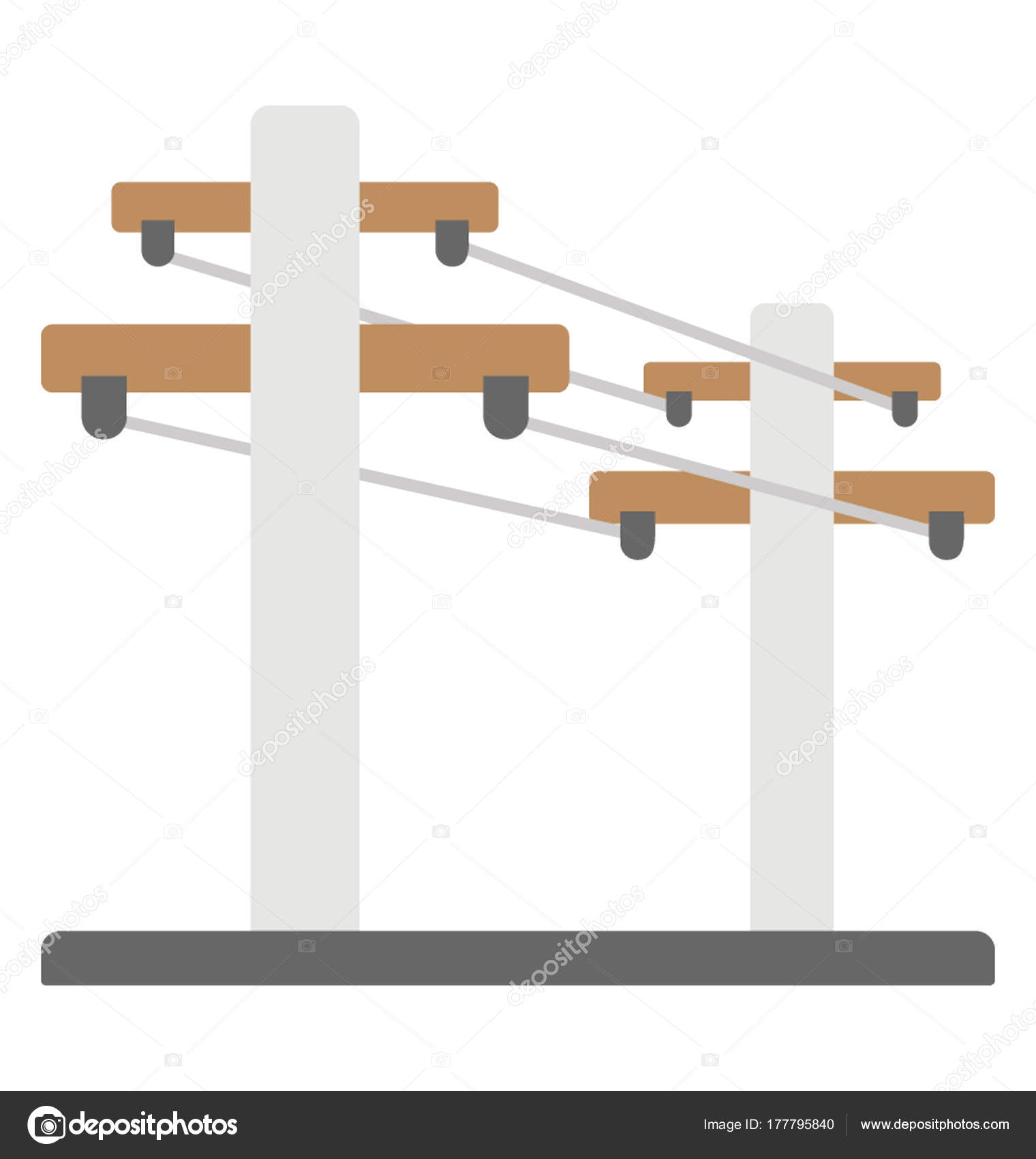 Excellent Electric Tower Power Lines Flat Vector Icon Stock Vector Pdpeps Interior Chair Design Pdpepsorg