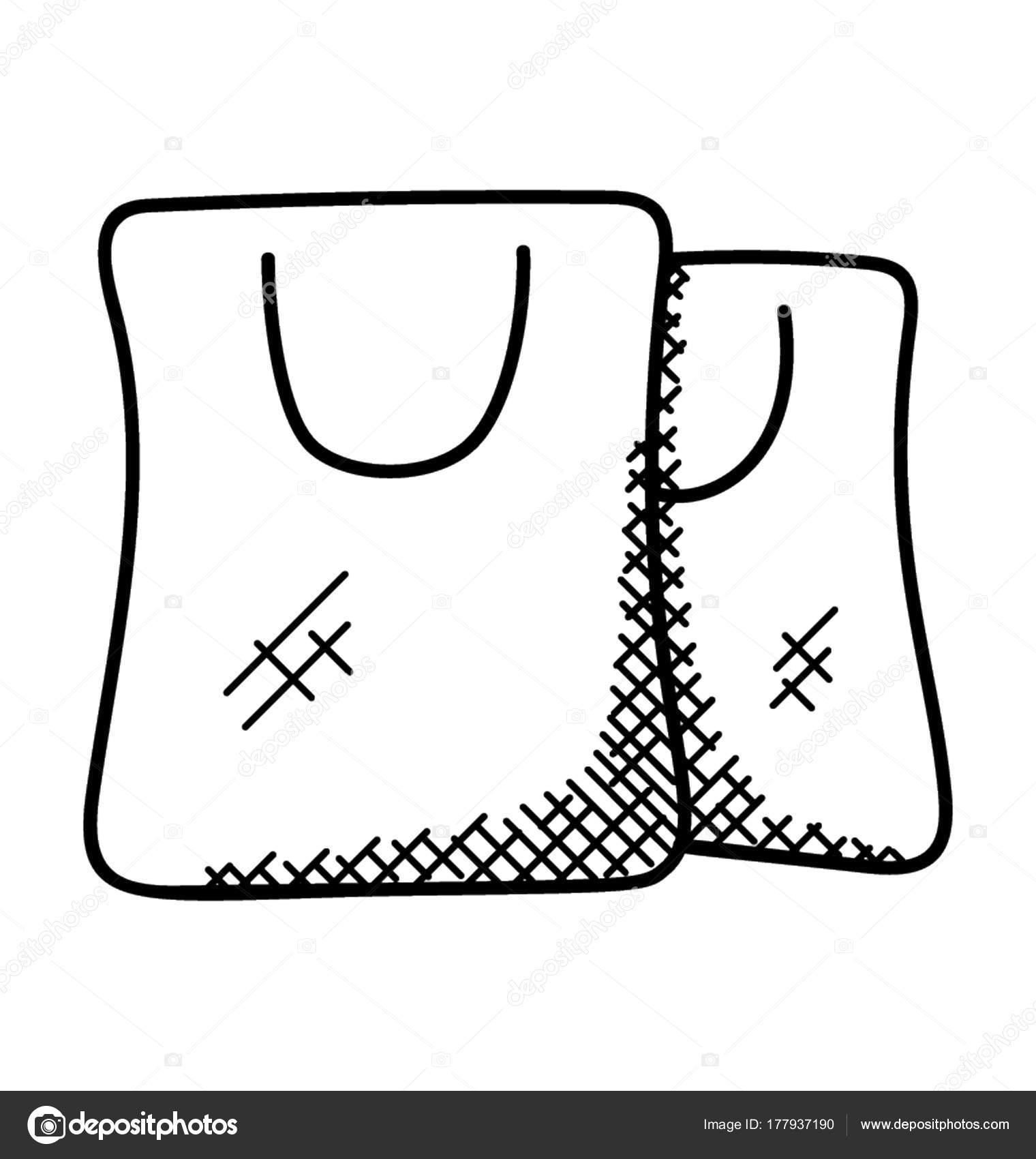Compras Bolsas Icono Mano Doodle Dibujos q76w46R