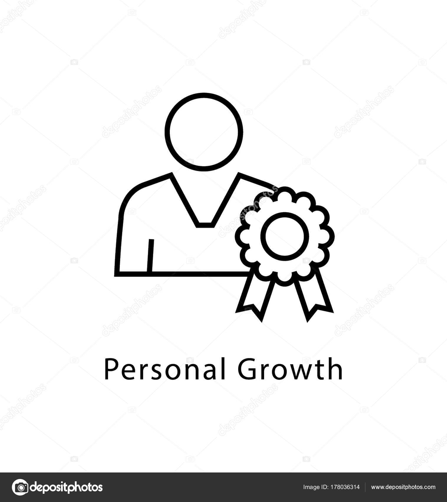 Personal Growth Vector Line Icon Stock Vector Creativestall