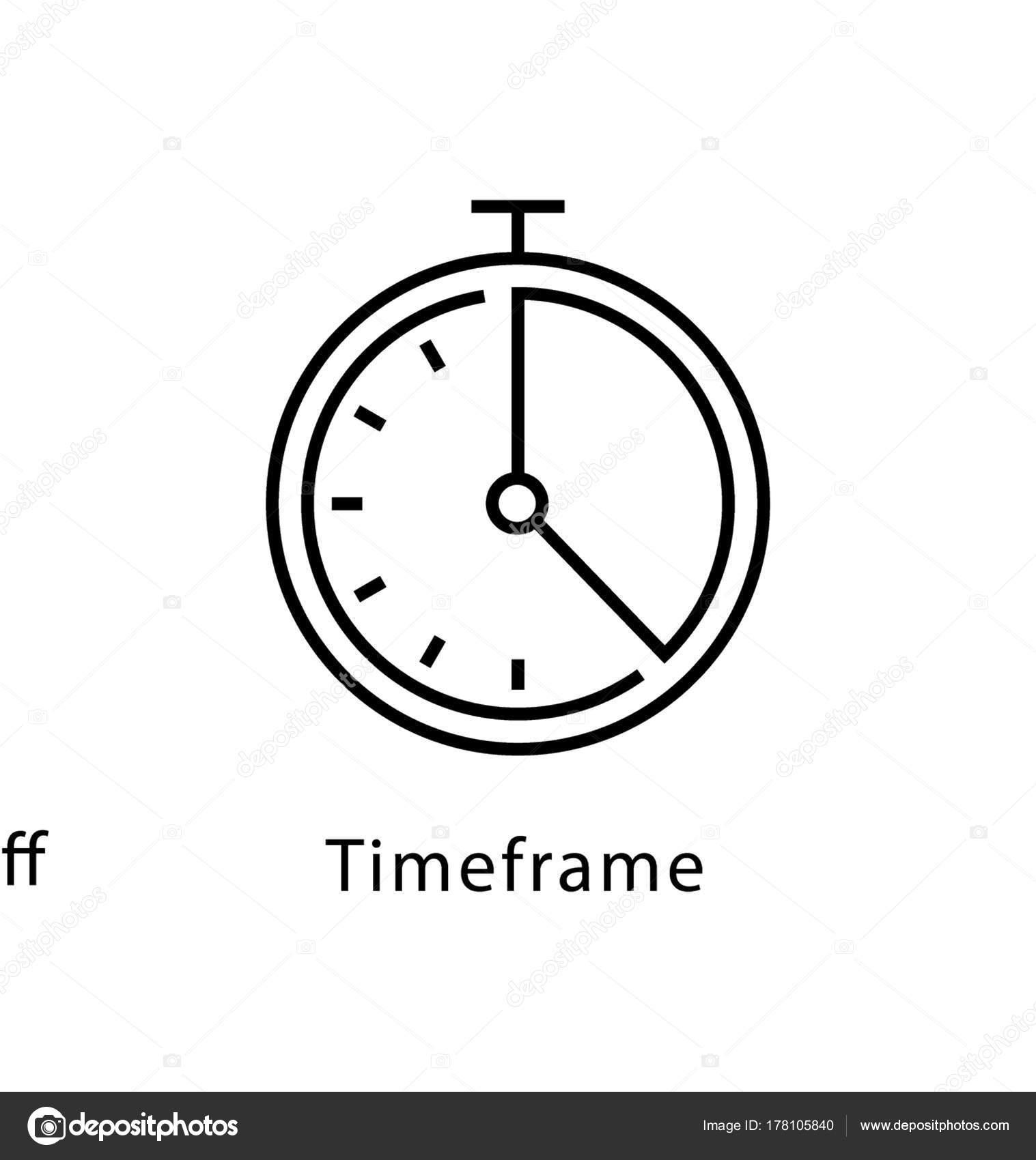 Zeitlichen Rahmen Vektor Liniensymbol — Stockvektor © creativestall ...