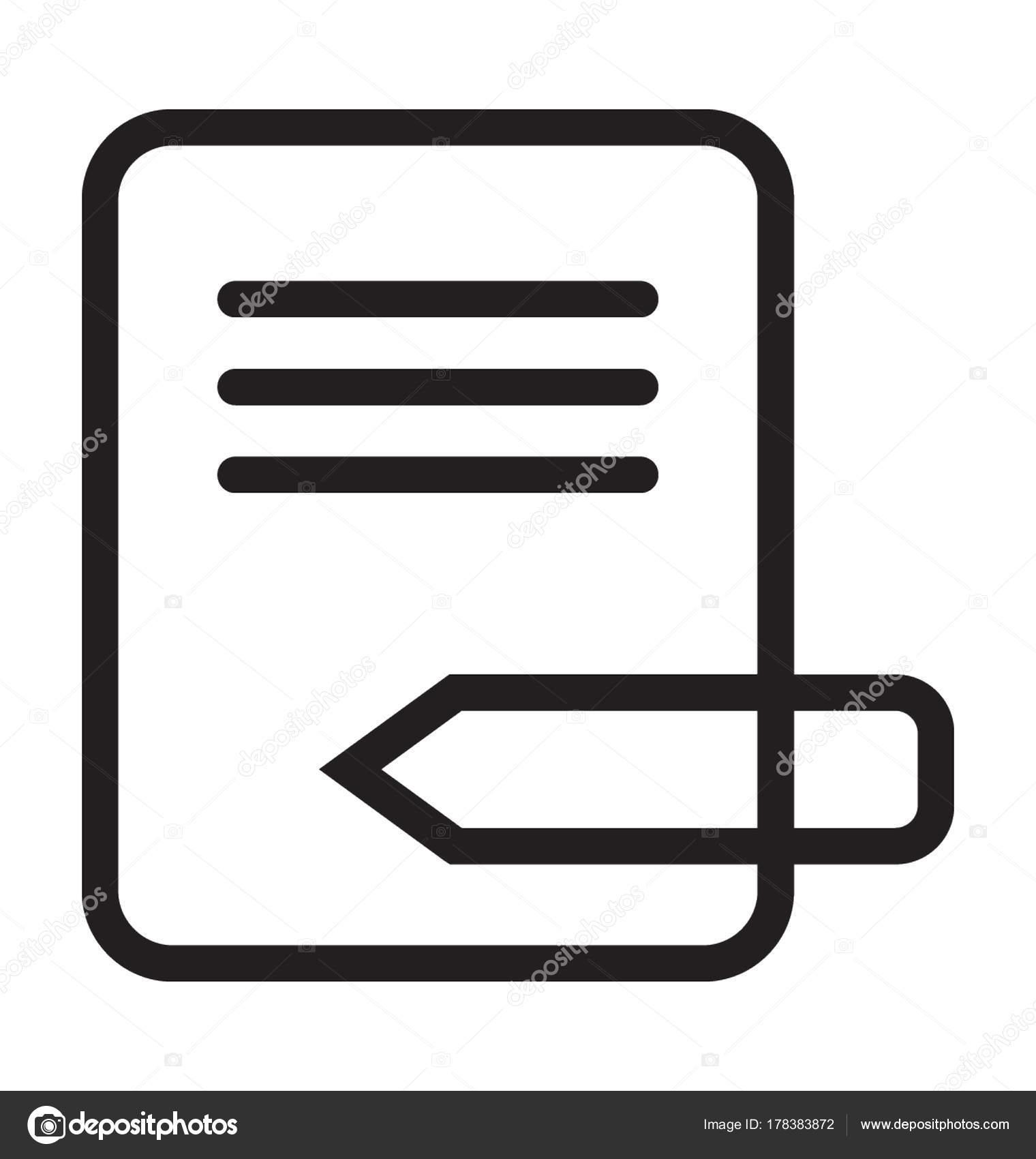 Icono Vector Línea Escritura — Archivo Imágenes Vectoriales ...