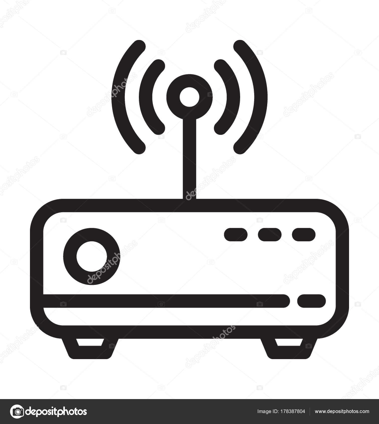 Wlan Router Vektor Icon — Stockvektor © creativestall #178387804