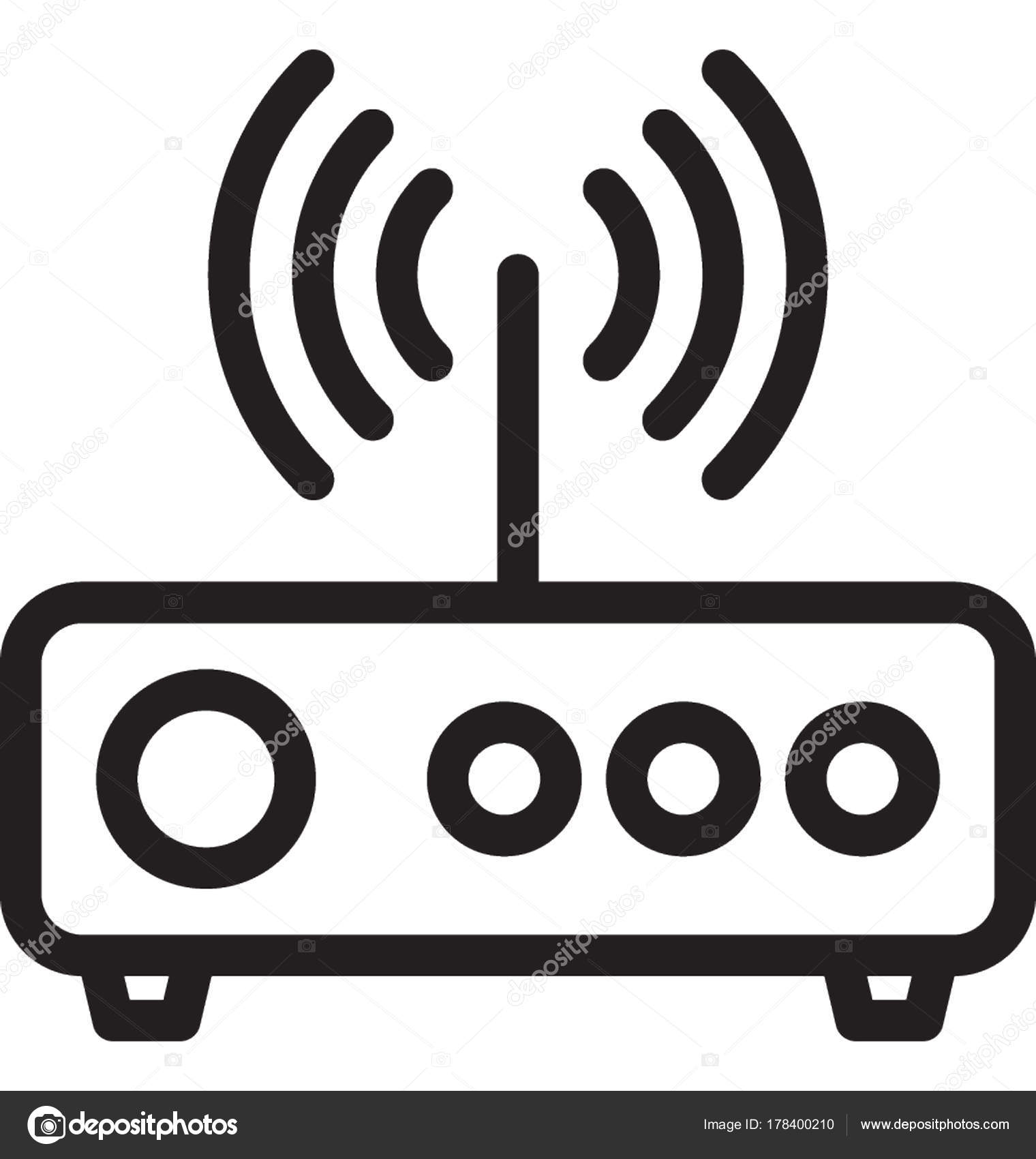 Wlan Router Vektor Icon — Stockvektor © creativestall #178400210