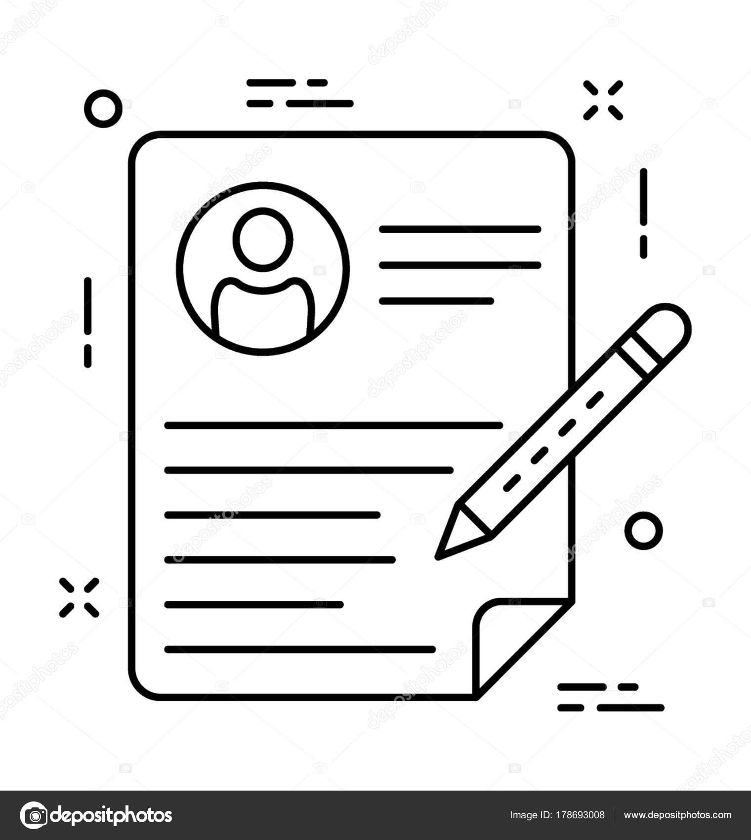 Lebenslauf Schreiben Vektor Icon — Stockvektor © creativestall ...