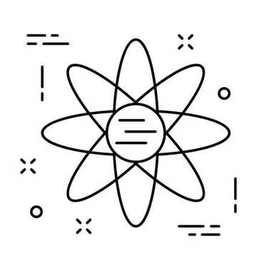 Atom Line Vector Icon
