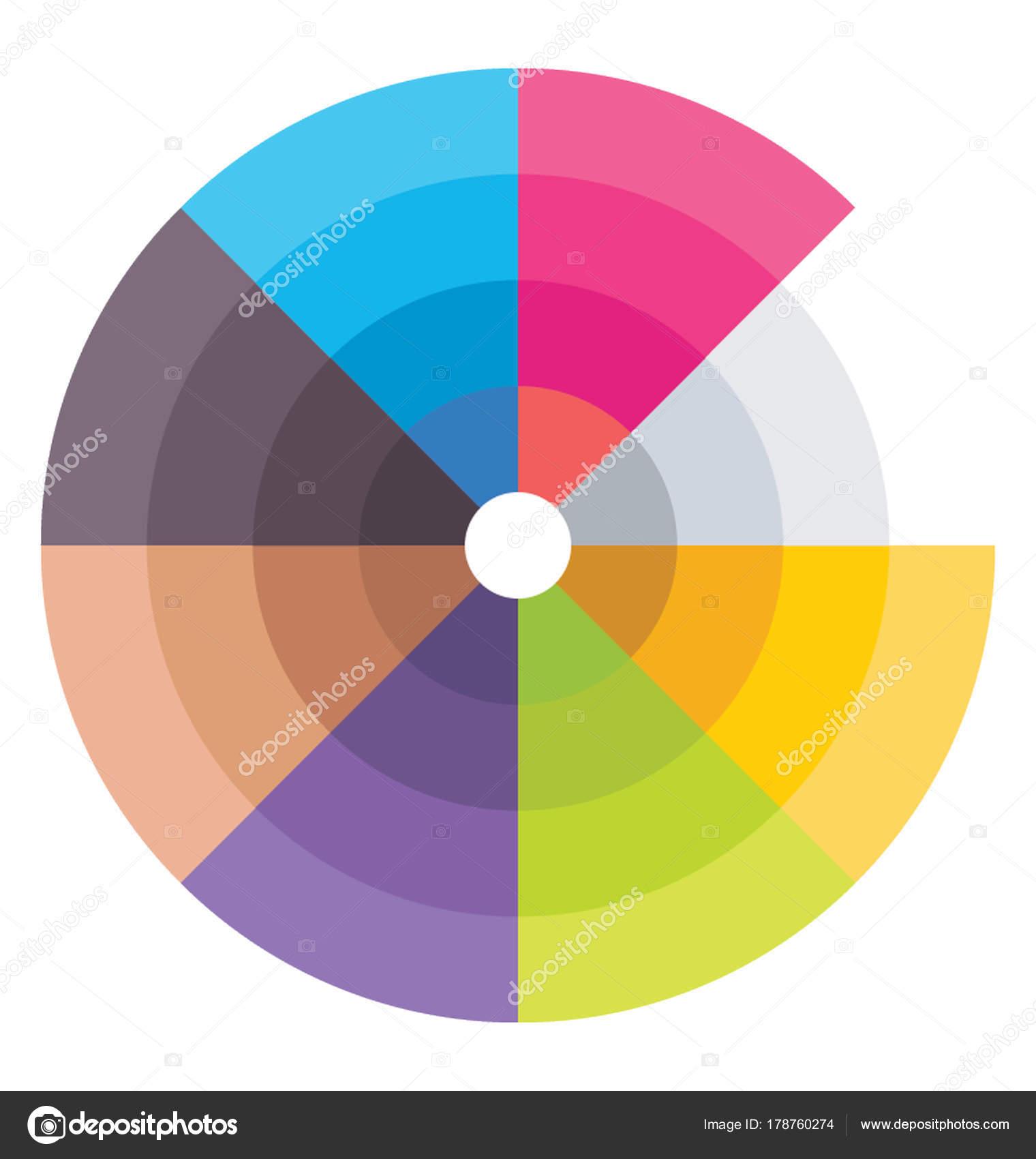Icono Vector Paleta Colores — Archivo Imágenes Vectoriales ...