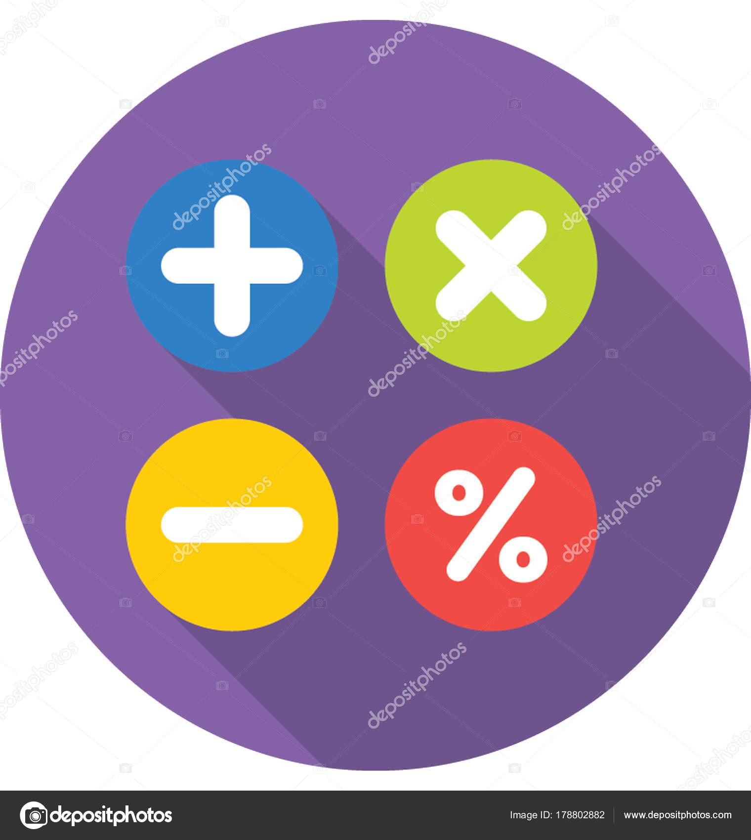 Math Symbols Vector Icon Stock Vector Creativestall 178802882