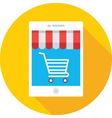 M Commerce Vector Icon