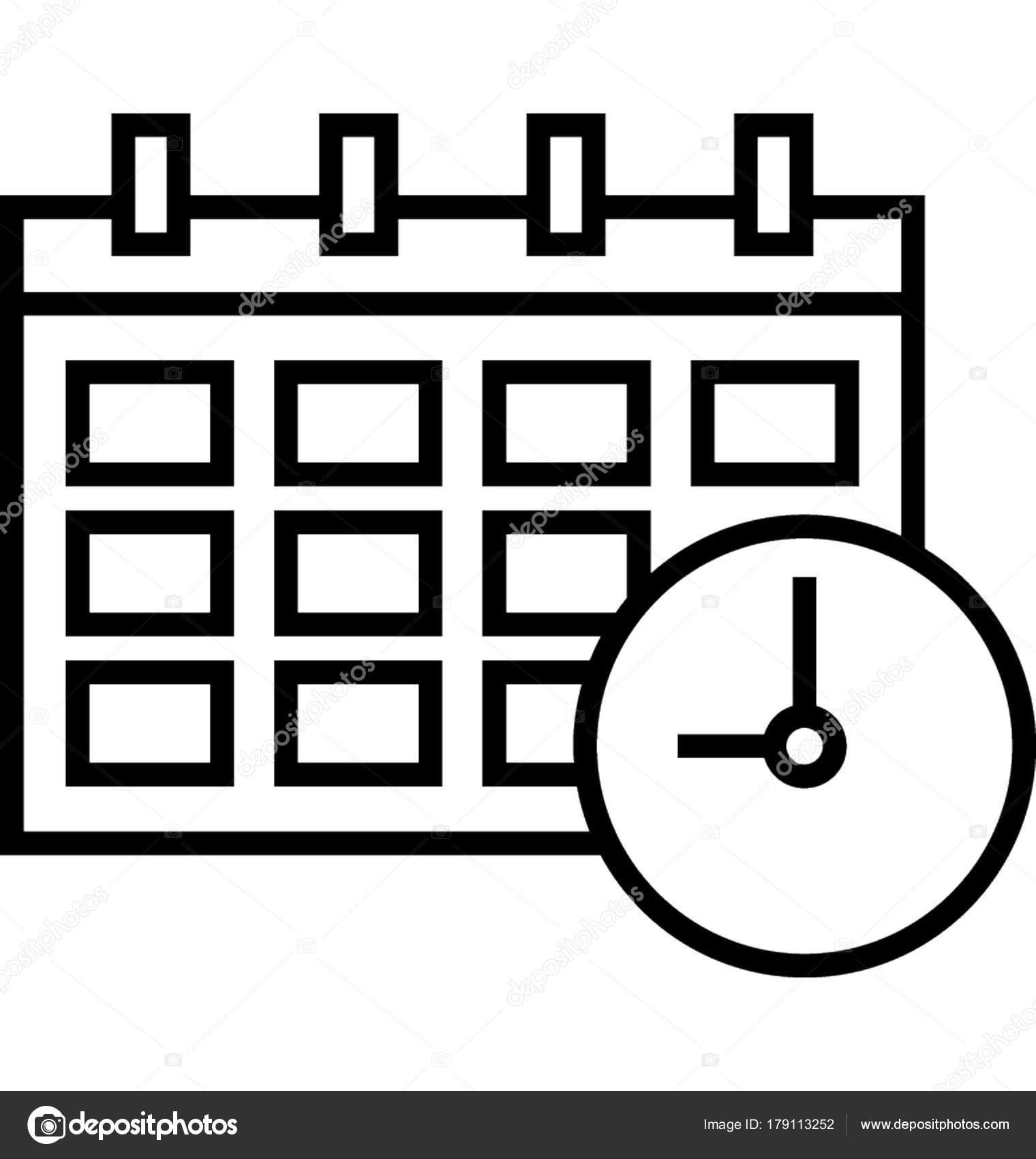 Zeitlichen Rahmen Vektor Icon — Stockvektor © creativestall #179113252