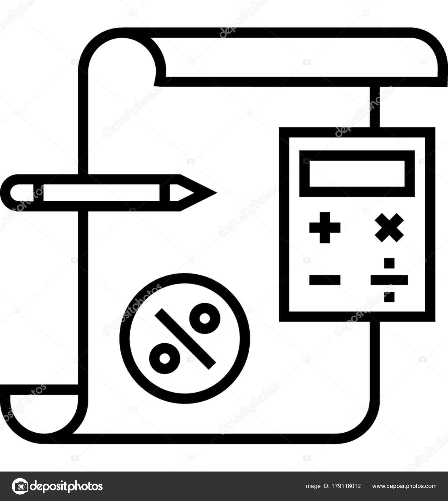 buchhaltung linie vektor icon stockvektor. Black Bedroom Furniture Sets. Home Design Ideas
