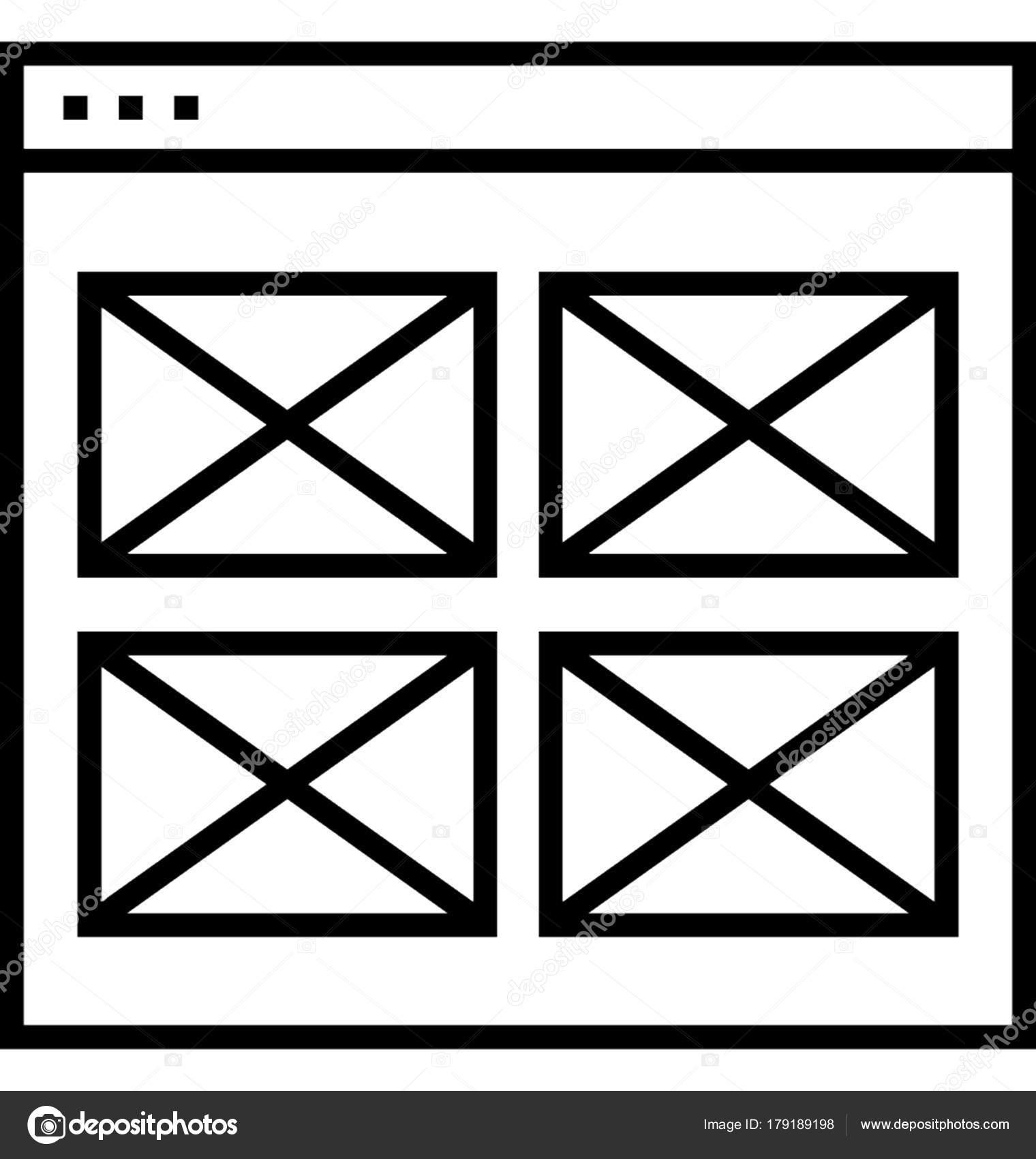 Marco Alambre Vector Icono — Archivo Imágenes Vectoriales ...