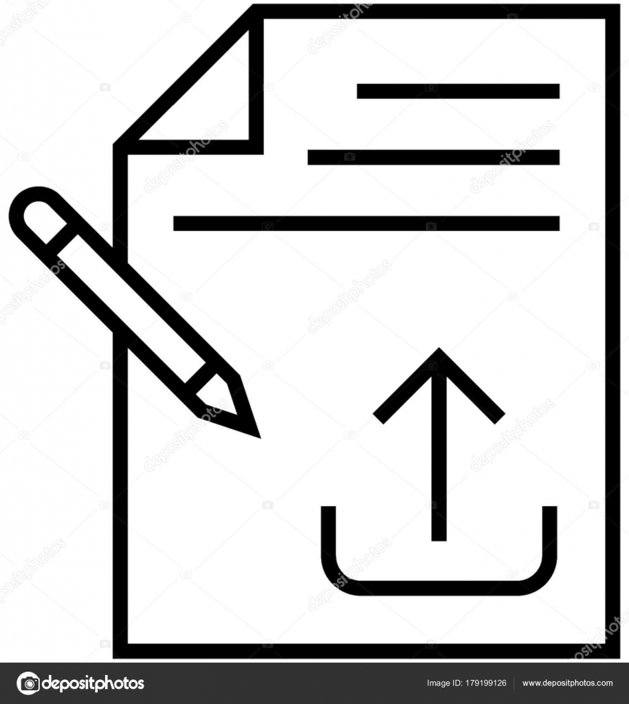 article submission vector icon � stock vector