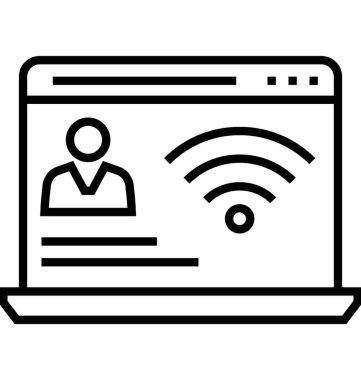 Online Presence Management Vector Icon