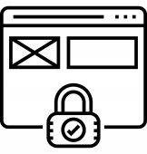Webové stránky zabezpečení vektorové ikony