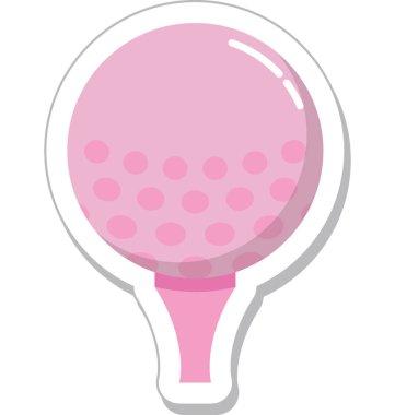 Golf Flat Vector Icon