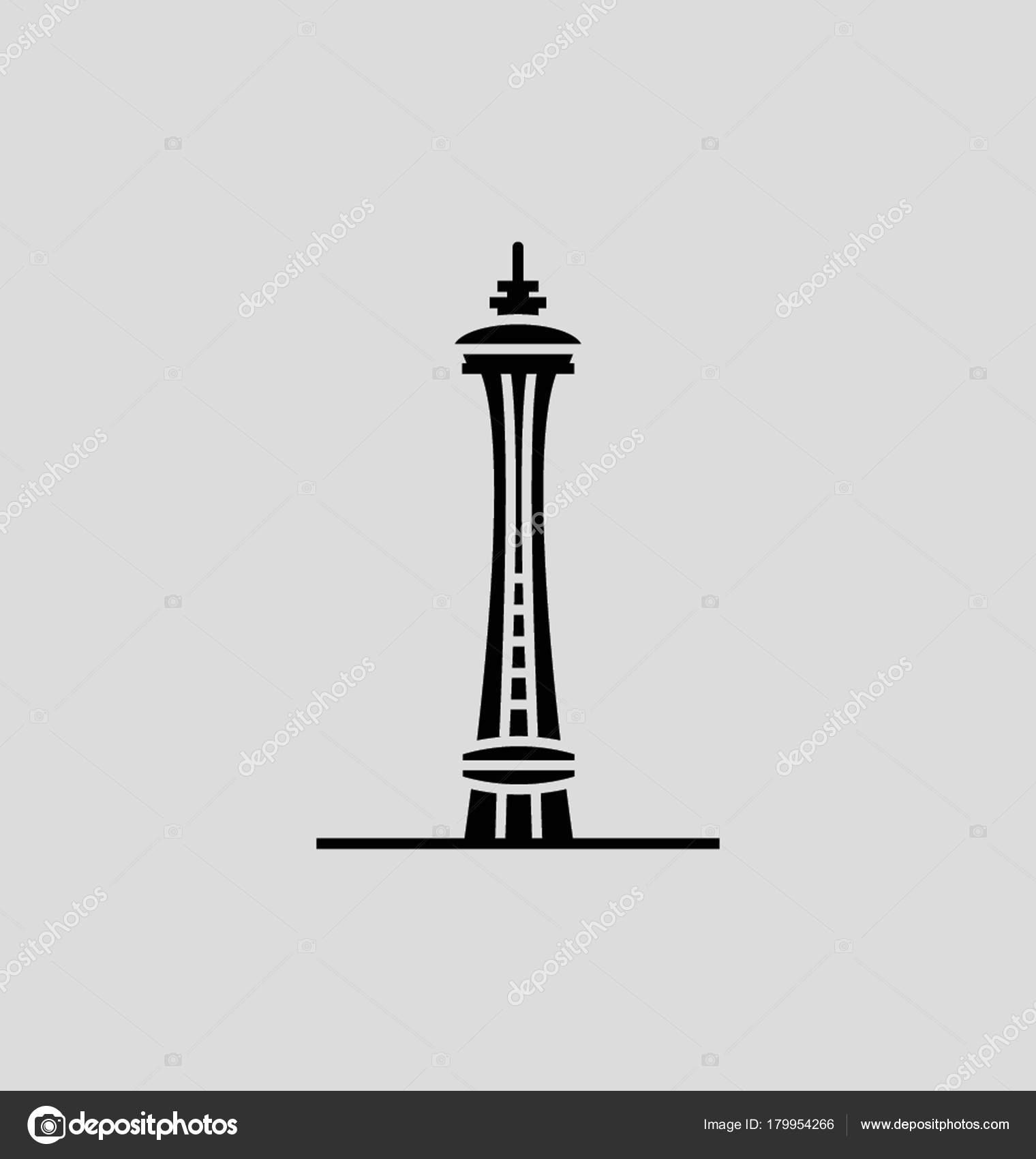 space needle vector illustration stock vector creativestall rh depositphotos com space needle vector free Seattle Space Needle Restaurant