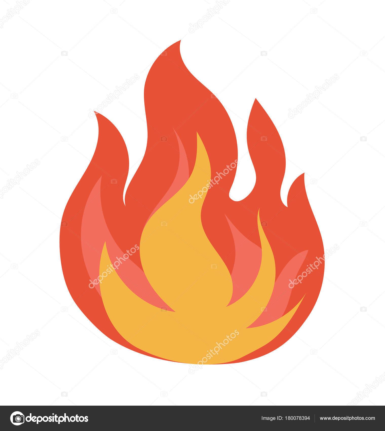 Ateş Alev Vektör çizim Stok Vektör Creativestall 180078394