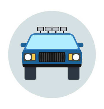 taxi Flat Vector Icon
