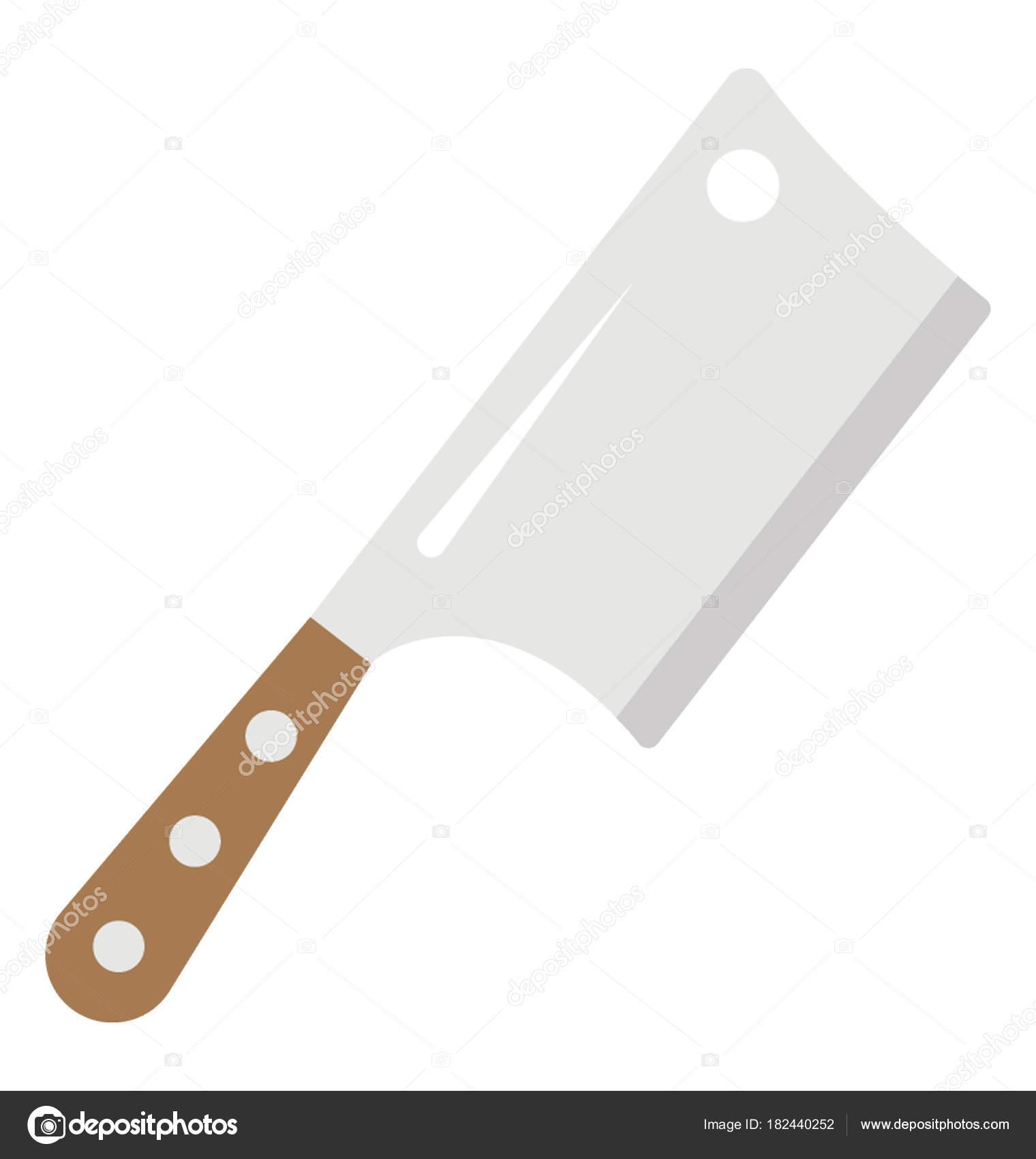 icône plate couteau découpe viande géant — image vectorielle