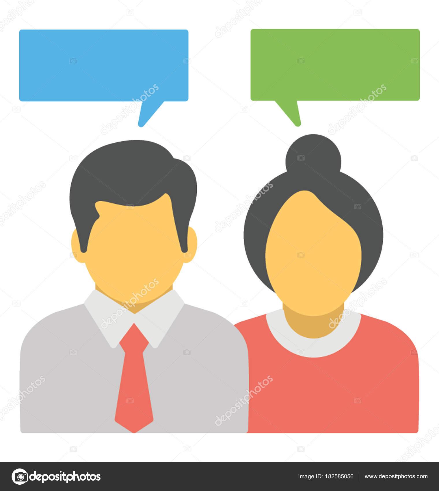 man woman avatars chat bubbles concept chat discussion communication