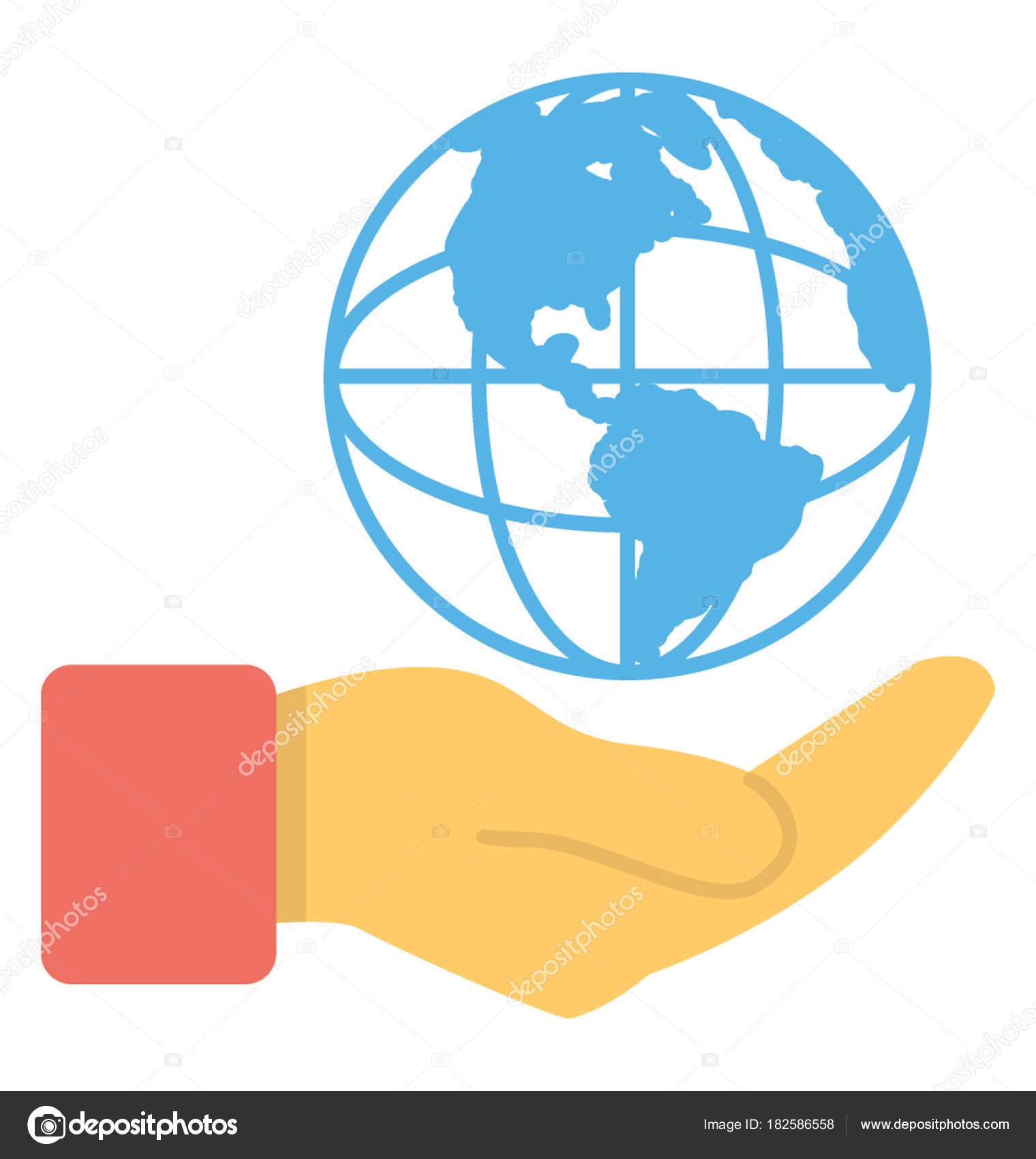 Protección Del Medio Ambiente Calentamiento Global Icono Plana ...
