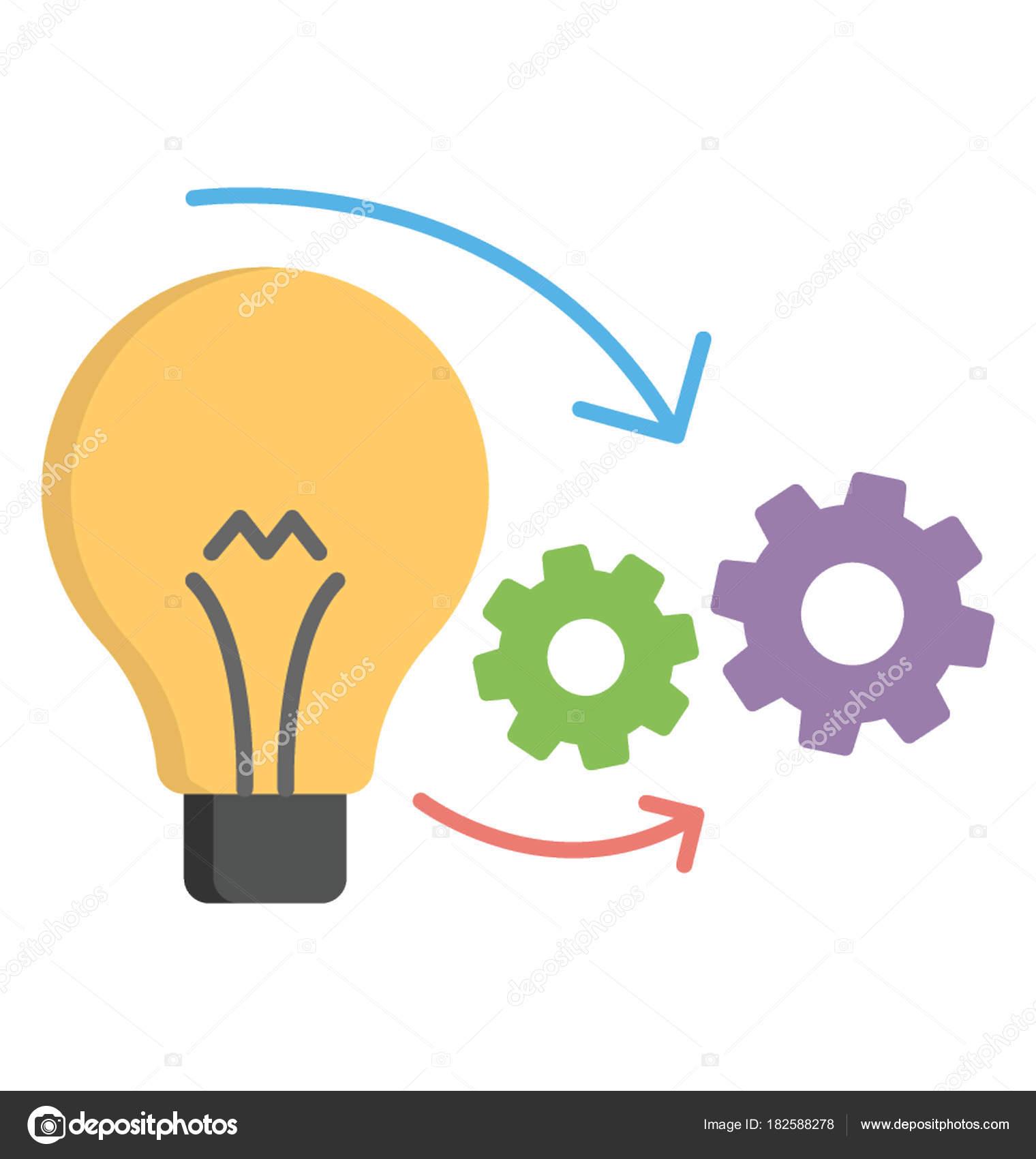 Acomplishment flat icon accomplishment implementation — stock vector