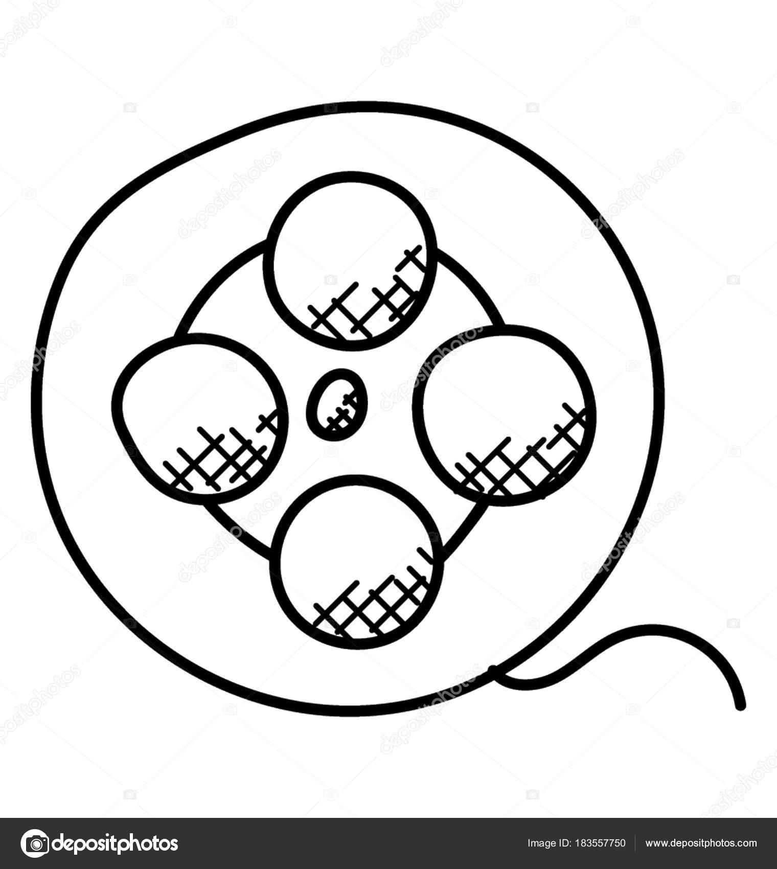 Movie reel doodle | Cinema Movie Reel Film Tape Doodle Icon